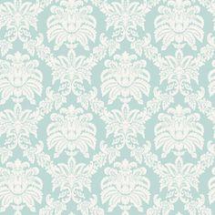 allen + roth Blue Sweeping Damask Wallpaper