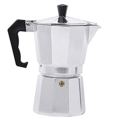Myvision Aluminum 1cup3cup6cup9cup12cup Italian Stove topMoka espresso coffee makerPercolator pot tool 1 Cup * Check out this great product by click affiliate link Amazon.com