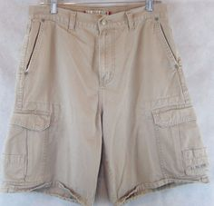 U.S. Polo Assn. Mens Tan Cargo Shorts ~ Size 32 - 6 Pockets- 100% Cotton #USPoloAssn #Cargo