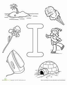 Help your preschooler learn the alphabet and practice letter I sounds all while having fun and coloring!