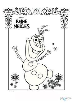 Coloriage Olaf.Voir Le Dessin Coloriages Olaf En Train De Sentir Le Parfum