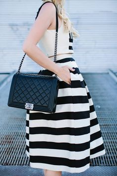 Striped Skirt Urban Style by A Little Dash Of Darling