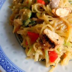 "Spaghetti Squash Pad Thai I ""My husband said to me when I made this last night "" We seriously need to have this every week it's amazing!"""