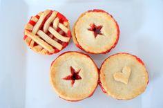Mini Cherry Pies via The Kitchen Chaotic