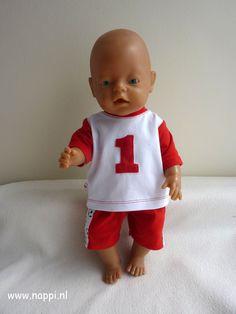 Jongenskleding, sportset / Baby Born 43 cm   Nappi.nl  Eigen ontwerp