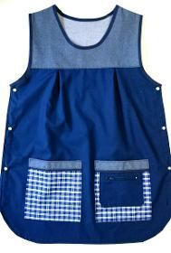 Guardapolvos Ponchitos Docentes Maestras Jardin Privados - $ 550,00 Jean Apron, Adult Bibs, Hand Embroidery Videos, African Fashion Designers, Cute Aprons, Sewing Aprons, Aprons Vintage, Smocking, Work Wear