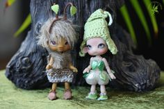 Pre-Order CLOSED Tempeh Brownie (Tan) - Pixie ball-jointed doll (Tiny) 9cm - LE 20 - Charles' Creature Cabinet