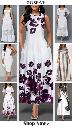 Upgrade your wardrobe and try new styles this year, $5 off over $75, free shipping & 30 days easy return at Rosewe.com.#dress#white#chic#womensfashion#modest#rosewe#summeroutfit#highwaist#sleeveless#maxidress#classy#casualstyle African Dresses For Kids, White Dresses For Women, Latest African Fashion Dresses, Trendy Dresses, Women's Fashion Dresses, Dress Outfits, Casual Dresses, Summer Dresses, African Print Dress Designs