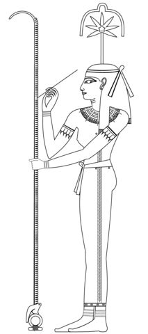 Seshat Coloring page