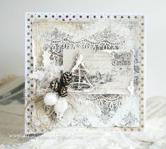 Dorota_mk (Dorota (Kopeć) Kotowicz Winter Christmas, Christmas Cards, Chabby Chic, Shabby Chic Christmas, Scrapbook Paper, Scrapbooking, Old Fashioned Christmas, Vintage Shabby Chic, Ladder Decor