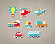 Meios de Transporte - Recortes/Apliques em Papel