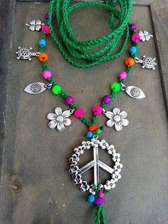 Sandalias descalzos hippie rosa de bosque verde, colores neón, tobilleras de gitana, danza del vientre, flor Hippie de la paz, trébol de cuatro hojas, boda