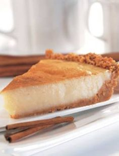 Milk tart (Melk tert) is as South African as Biltong & Dry wors. I would have sex with anyone who could make this properly. Köstliche Desserts, Delicious Desserts, Dessert Recipes, Yummy Food, Tart Recipes, Sweet Recipes, Baking Recipes, Baking Pies, Pudding Recipes