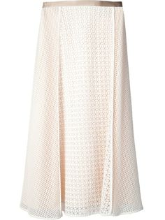 O'2ND Lace Patched Midi Skirt