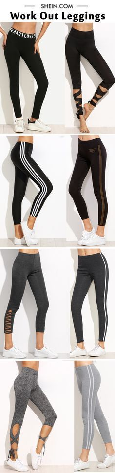 Perfect leggings for yoga. Super soft leggings for work-out! More sporty style at shein.com!