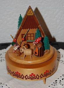 EXPERTIC Erzgebirge seltene alte Spieldose Hexenhaus Hänsel Gretel schön -Rar   eBay