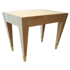 Vintage Angelo Donghia Oak and Marble Occasional Table | From a unique collection of antique and modern coffee and cocktail tables at http://www.1stdibs.com/furniture/tables/coffee-tables-cocktail-tables/