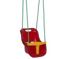 New Baby Outdoor Swing Seat -  Red  10 - 36 months