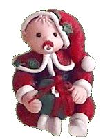 Polymer Clay Central - Christmas Baby by Jacqueline van Hesse-Penning