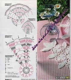 . Салфетки-10 - Все в ажуре... (вязание крючком) - Страна Мам Crochet Circles, Crochet Motif, Irish Crochet, Doilies, Couture, Patterns, Crafts, Mesas, Shape