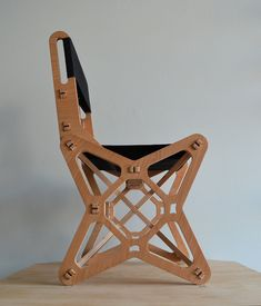 Electron Chair by LOCK is a new concept in flat-pack furniture. The chair combines art design, ergonomics, innovative engineering and puzzle structure. The Electron Chair is not just a typical chair, but a functional sculpture. Furniture Design Images, Unique Furniture, French Furniture, Furniture Plans, Small Bookshelf, Woven Chair, Furniture Removal, Woodworking Workshop, Cool Chairs