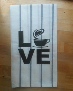 For the coffee lover in you. #coffee #love #towel #custom #kitchentowels #red #coffeelover #noir23boutique #noir23