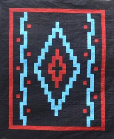 #Q#49 Simply Southwest (Everyone downloads this image. I enjoyed making it, but it's right off the pattern.) Quilting Projects, Quilting Designs, Sewing Projects, Star Quilts, Quilt Blocks, Southwestern Quilts, Seminole Patchwork, Native American Patterns, Indian Quilt