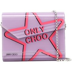Jimmy Choo Candy clutch ($795) ❤ liked on Polyvore featuring bags, handbags, clutches, leather flap handbags, party purses, jimmy choo handbags, genuine leather handbags and leather purses