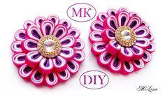 Воздушный цветок канзаши II, МК /  DIY Kanzashi flower