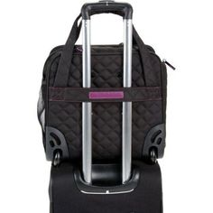 UnderSeat luggage  Tote bag wheels storage travel business foldable black #Delsey