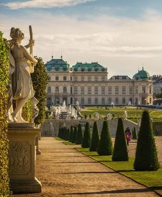 The Belvedere Palace in Vienna was built by Johann Lucas von Hildebrandt for Prince Eugene of Savoy. Prince Eugene was one of the most important generals of the Habsburg Empire. He earned his money in my opinion with wars.