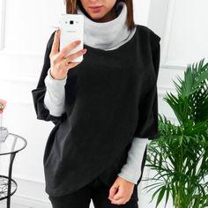 Harajuku Turtleneck Batwing Sleeve Sweatshirts