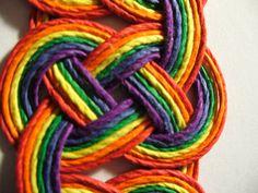 Hemp Jewelry Bracelet Rainbow Celtic Knot Bracelet FREE by HempUp, $40.00