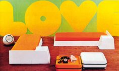 """By the early 1970s, permissiveness prevailed: beds were on the floor, sofas became """"sprawlers"""" and chaise longues were orange and made of foam."""