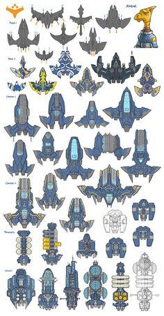 Stars in Shadow: Ashdar Design Thumbnails by AriochIV on DeviantArt Cartoon Spaceship, Spaceship Art, Spaceship Design, Star Wars Concept Art, Robot Concept Art, Game Concept Art, Robot Art, Space Ship Concept Art, Concept Ships