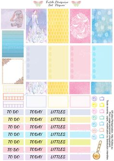 Free Printable Easter Planner Stickers {page one} from Futile Peregrine