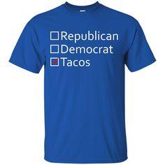 Political Taco Republican Funny Democrat Bernie Sanders Donald Trump Politics Election 2016 T-Shirt