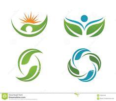 Health Life And Fun Logo Stock Photo - Image: 61842446