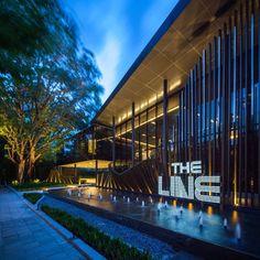 The Line Condominium Sales Gallery- Bangkok, Thailand- Shma New Classical Architecture, Cultural Architecture, Facade Architecture, Landscape Architecture, Landscape Design, Entrance Signage, Entrance Design, Mall Facade, Public Space Design