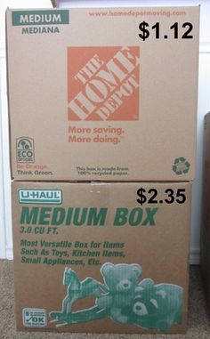 Have an upcoming move?  Here's how to save money on moving boxes!