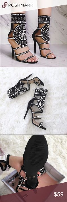 c46ee3beb031 Beautiful jeweled shoes from Lola Shoetique These stunning sandals are sure  to draw attention! Takes. Heel ...
