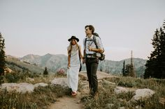 Hiking elopement inspiration in the mountains ✨