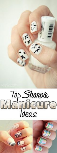No need to spend tons of time and money on nail salons! Now you can do your own nails for free at your home and on your own time with just simply Sharpies! Here are some great Sharpie manicure ideas for you to use to make your nails shine!