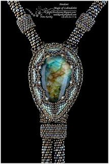 Lovely Stone – Beaded Jewellery by Nata Karsky: Pendant - Magic of Labradorite