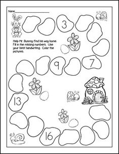 Print and Go! Easter Math and Literacy ~ Save yourself some ink and TIME. Bunnies and eggs abound on these sweet sheets that your kiddos will love. Easter theme without reference to the holiday. Covers lots of skills and differentiated to meet your div Kindergarten Math Worksheets, Preschool Learning, In Kindergarten, Holiday Activities, Preschool Activities, Math For Kids, Kids Education, Math Lessons, Literacy