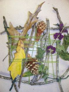 Creating Art: Nature Weavings
