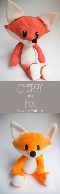 Jun 13 It's Here! The free Cherry the Fox Pattern free fox sewing pattern with complete tutorial included Animal Sewing Patterns, Free Sewing, Knitting Patterns Free, Pattern Sewing, Felt Patterns Free, Baby Knitting, Crochet Patterns, Easy Sewing Projects, Sewing Projects For Beginners