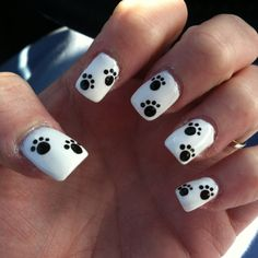 Paw print nail design!! @bethwheelerwash for our PBR activity?
