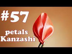 Petal kanzashi Ribbon 2.5 cm / All petals kanzashi # 57 Лепесток канзаши из ленты 2,5 см / Все лепестки Канзаши #57 - YouTube