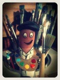 Dedo pintor.